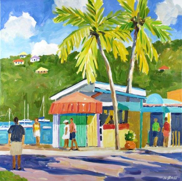 Wharfside Village, Cruz Bay, St. John, 36 x 36 in.